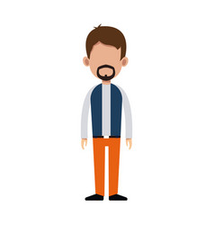 character man standing casual clothes image vector image