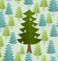 Christmas trees seamless pattern Conifers vector image