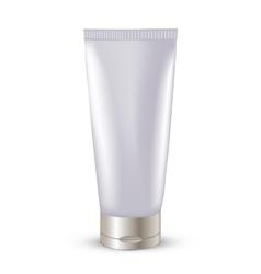 Cosmetic packaging plastic tube vector image