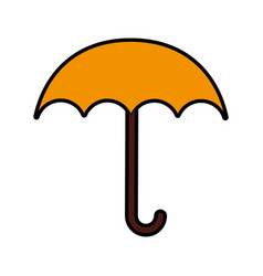 Cute yellow umbrella cartoon vector