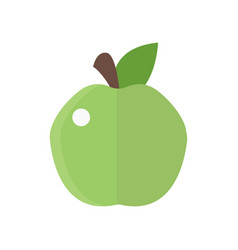 fresh green apple badge health vector image