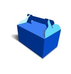 Gift craft box for design vector