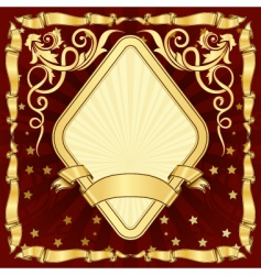 Gold vintage diamond frame vector