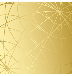golden background with meridians vector image