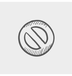 Not allowed sign sketch icon vector
