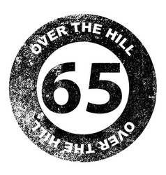 Over the hill 65 stamp vector