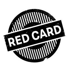 red card rubber stamp vector image