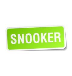 Snooker square sticker on white vector