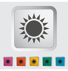 Sun single icon vector image