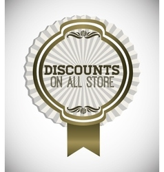 Trade discount design vector