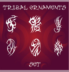 Tribal design elements and tattoo ornaments vector