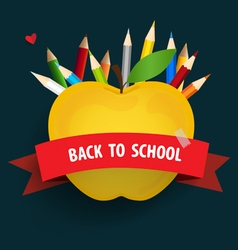 Welcome back to school with Apple and Colour vector image