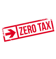 Zero tax rubber stamp vector