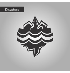 Black and white style melting glacier vector