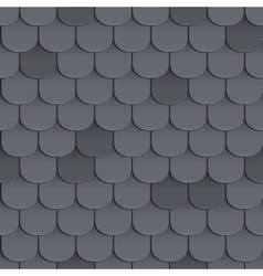 Shingles roof seamless pattern vector