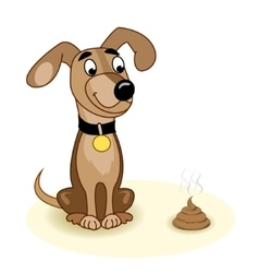 Dog and turd vector