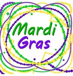 Mardi Gras poster vector image