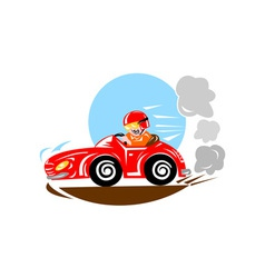 Race car driver vector