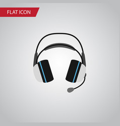 Isolated headphone flat icon earphone vector