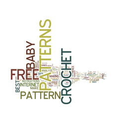 Free baby crochet patterns text background word vector