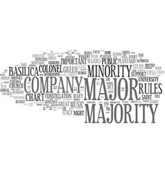 Majority word cloud concept vector