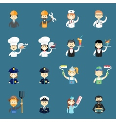 Large set of funny professional people avatars vector
