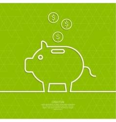 Icon Pig piggy bank vector image