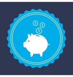 Economy and savings vector