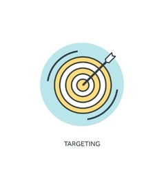 Target flat lined icon vector