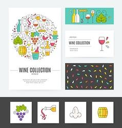 Wine Business Identity vector image