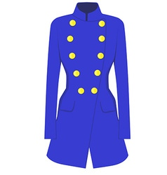 Blue coat vector