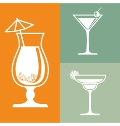 Drinks glasses concept design vector