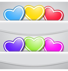 Colored valentine hearts vector