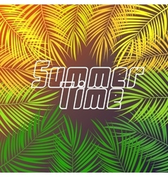 Summer Time Palm Leaf Background vector image