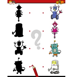 Preschool shadow activity with robots vector