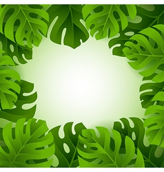 Frame with monstera leaves and copy space vector image