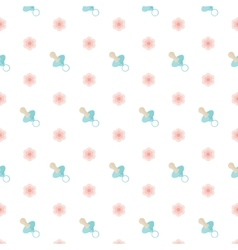 Seamless baby pattern nipple vector