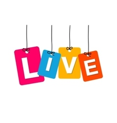Colorful hanging cardboard tags - live vector