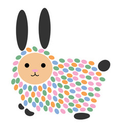 a cartoon hare stylized vector image