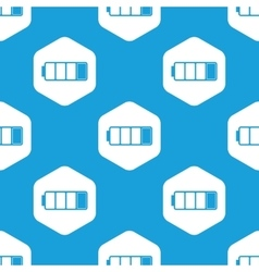 Almost discharged battery hexagon pattern vector