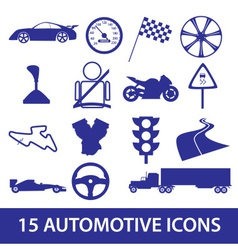 automotive icon collection eps10 vector image vector image