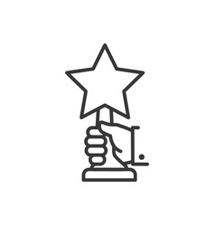 Award - line design single isolated icon vector