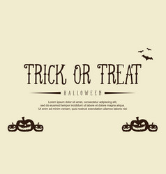 background style halloween with pumpkin vector image