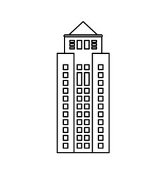 building property skyscraper outline vector image