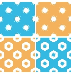 Burst pattern set colored vector