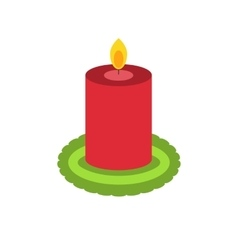 Christmas candle for decoration vector image