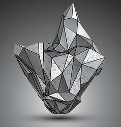 Deformed apex tech zink object 3d complex vector