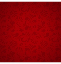 Floral seamless pattern subtle red vector