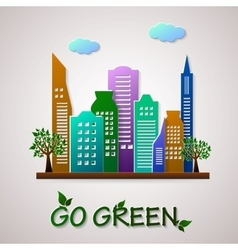 Go green design template Eco planet vector image vector image