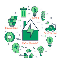 green eco house concept vector image